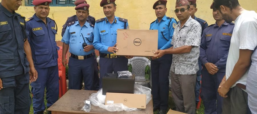 Computer Set Hand Over to WCSC Sanfebagar By WAC-Nepal's Chairman